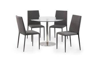 Round Fixed Top Table and 4 Zenn Chairs Fitz