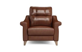 Leather N Power Recliner Cuddler