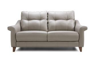 Leather P 3 Seater Fixed Sofa
