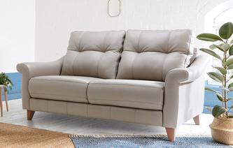 Flair Leather P 3 Seater Fixed Sofa Ergo Leather P