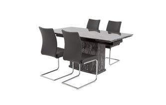 Extending Table & Set of 4 Cantilever Chairs Florence