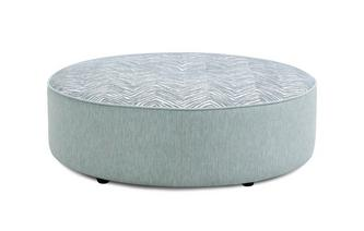 Large Round Pattern Footstool