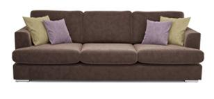 Freya 4 Seater Brown Sofa