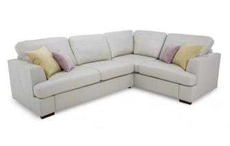 Leather Left Hand Facing 2 Seater Corner Sofa