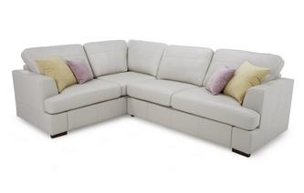 Leather Right Hand Facing 2 Seater Corner Sofa