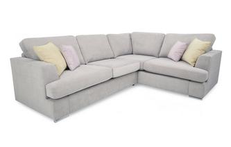 Left Hand Facing 2 Piece Corner Deluxe Sofa Bed Freya