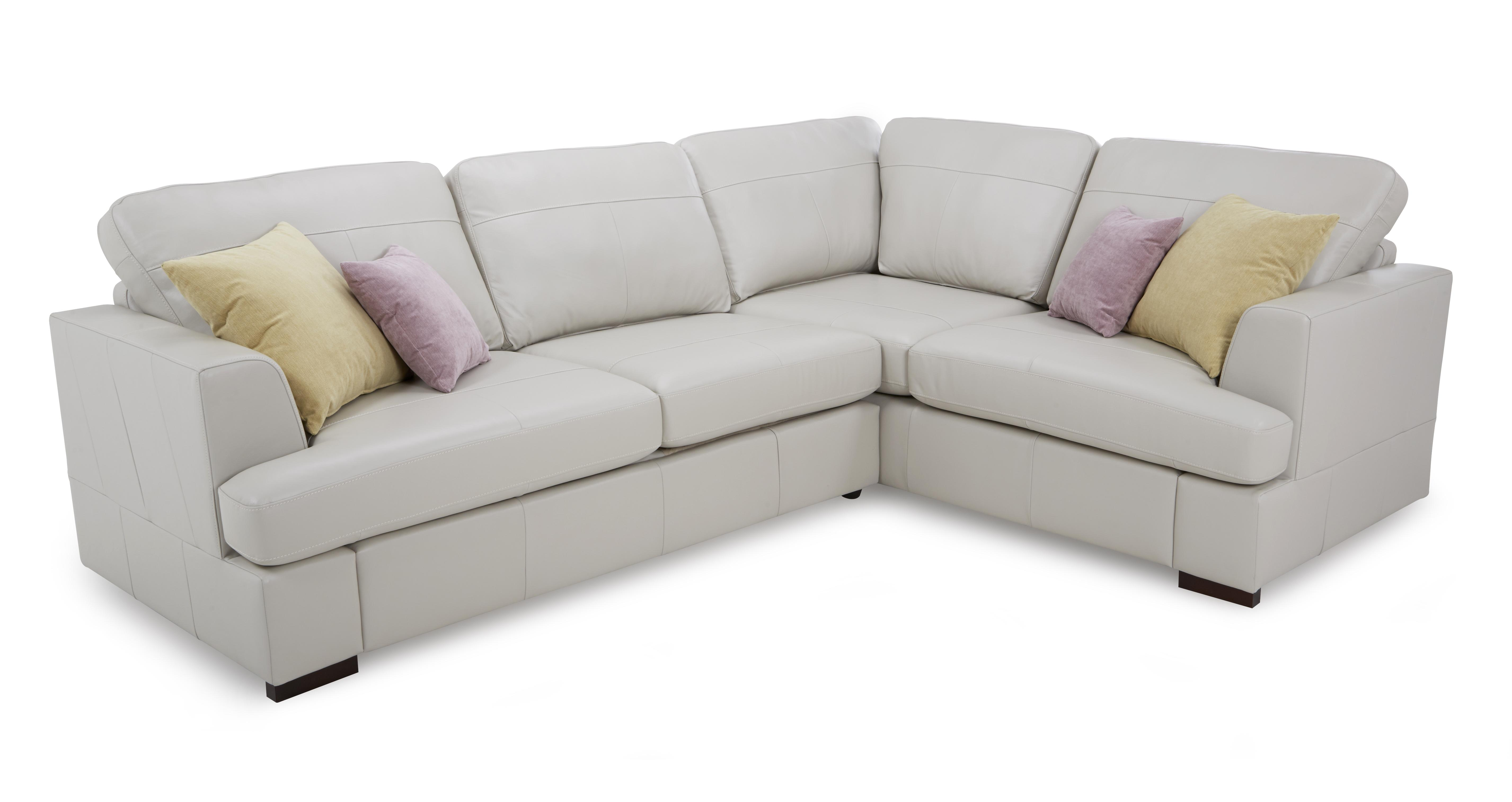 Superb Freya Leather Left Hand Facing 2 Piece Corner Sofa Machost Co Dining Chair Design Ideas Machostcouk