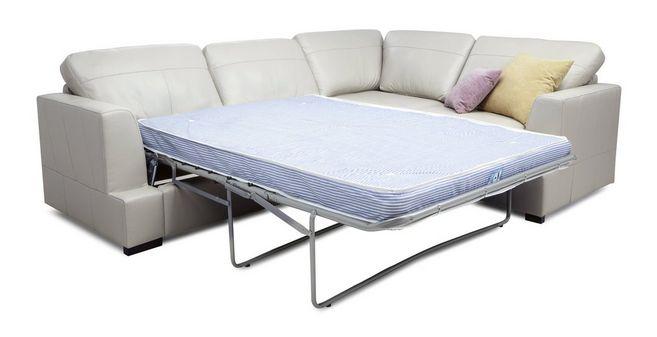 Cool Freya Leather Left Hand Facing 2 Piece Corner Deluxe Sofa Bed Machost Co Dining Chair Design Ideas Machostcouk