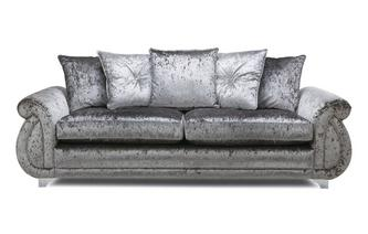 Pillow Back 4 Seater Sofa Krystal