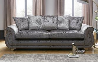 Gabriella Pillow Back 4 Seater Sofa Krystal