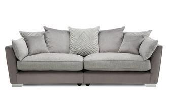 Pillow Back 4 Seater Split Sofa