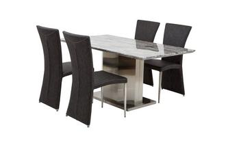 Dining Table & Set of 4 Chairs Genoa