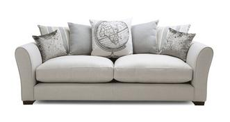 Globe Pillow Back Large Sofa