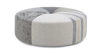 Globe Pattern Round Footstool