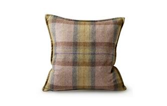 Plaid Small Feather Scatter