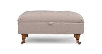 Gower Racing Plain Rectangular Storage Footstool