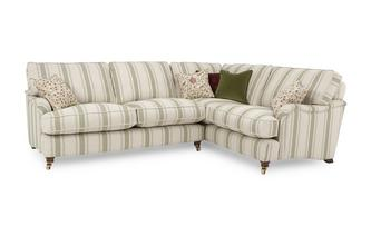 Racing Stripe Left Hand Facing 3 Seater Corner Sofa Gower Racing Stripe