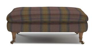 Gower Plaid Rectangular Footstool