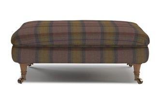 Plaid Rectangular Footstool Gower Plaid