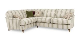 Gower Racing Stripe Right Hand Facing 3 Seater Corner Sofa
