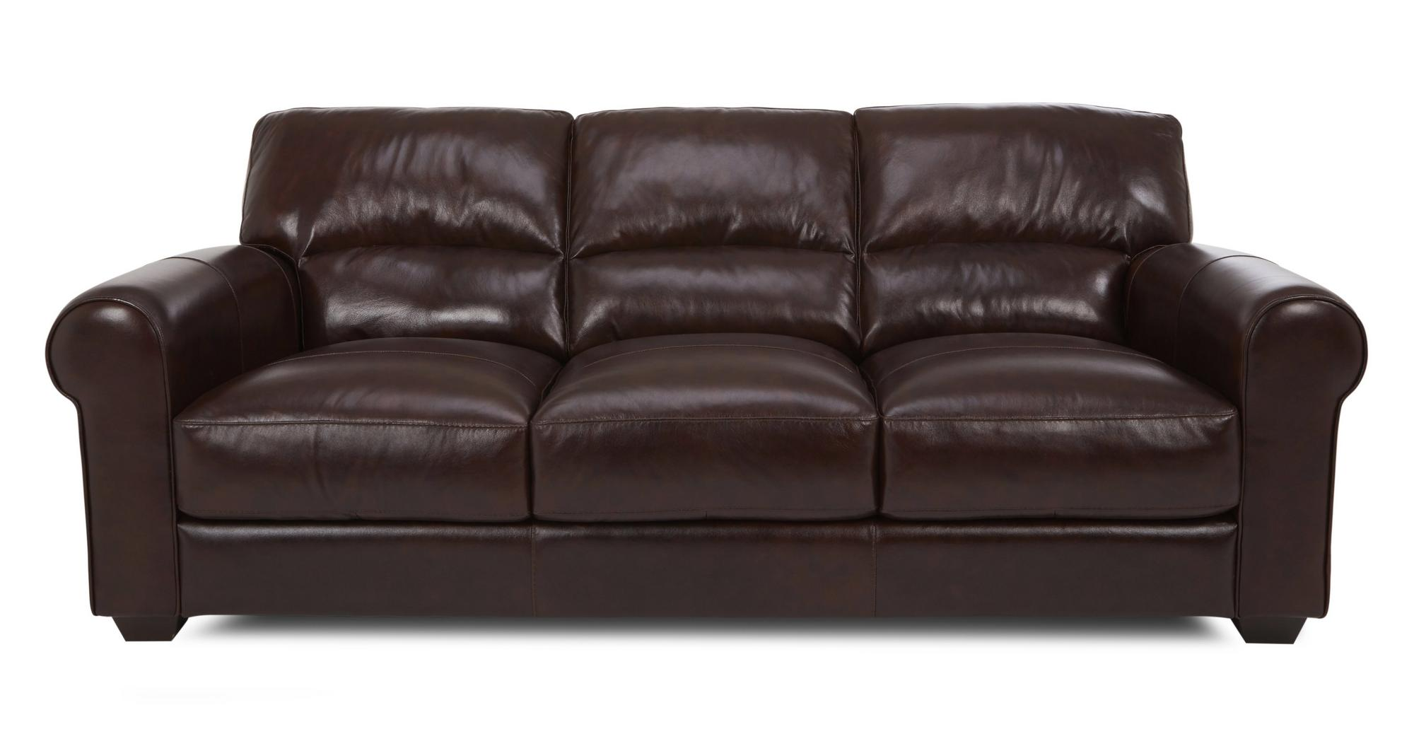Dfs Gravity Barolo Brown 100 Leather 3 Seater Sofa Ebay