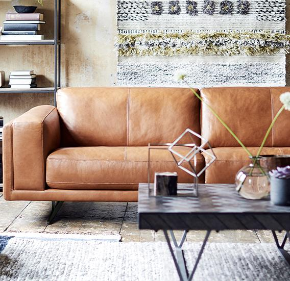 Exclusive Brand Leather Sofas at DFS
