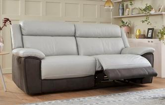 Hadwin 3 Seater Manual Recliner Bacio Vellutato