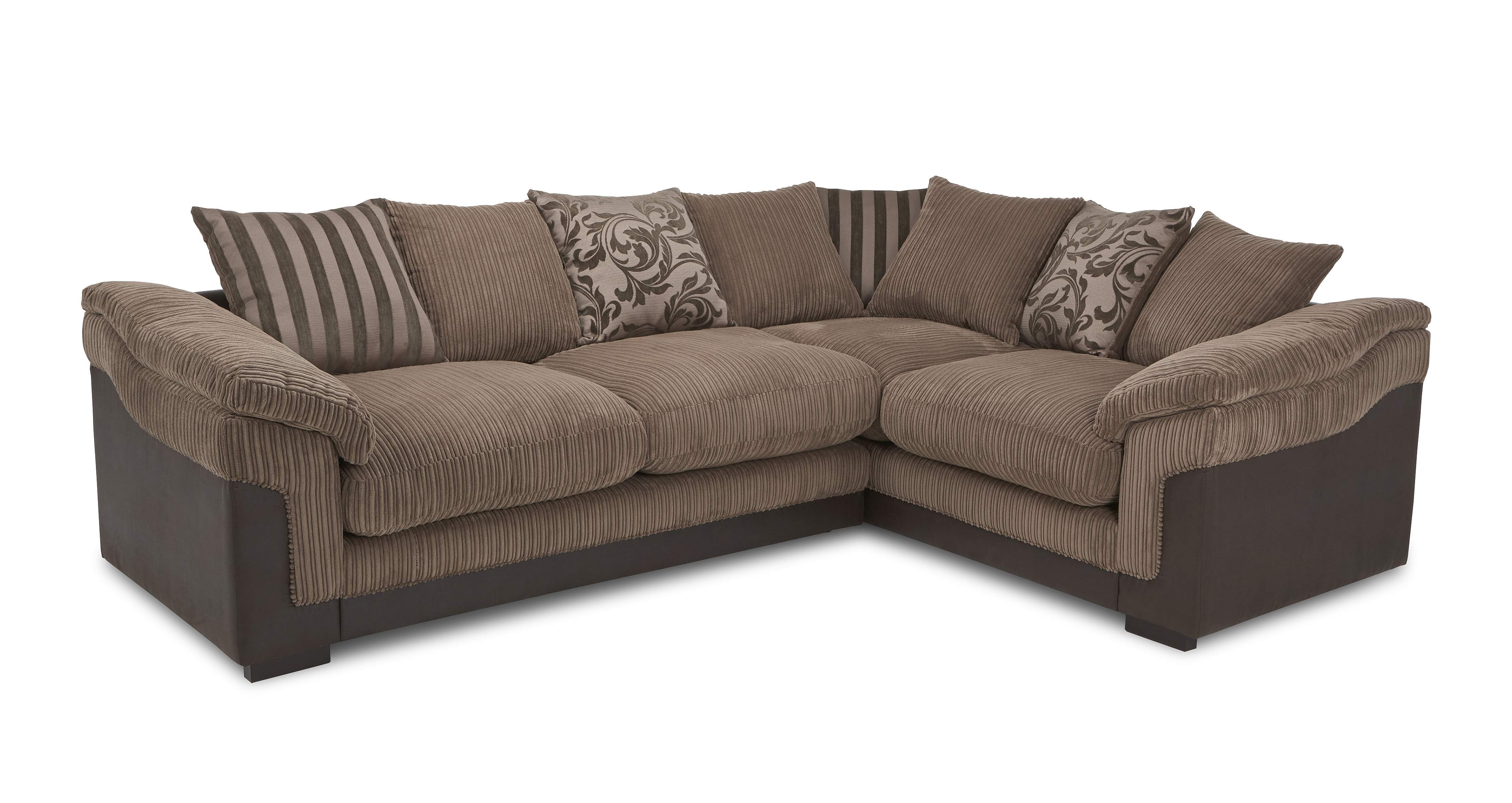 Latest Bed Designs Dfs Hallow Brown Fabric Corner Sofa With Foam Base