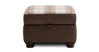 Hamish Check Top Storage Footstool