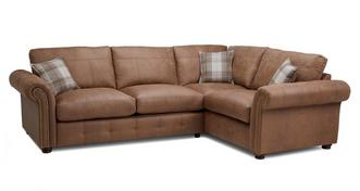 Hamish Formal Back Left Hand Facing 3 Seater Corner Sofa Bed