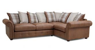 Hamish Pillow Back Left Hand Facing 3 Seater Corner Sofa Bed