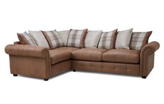Pillow Back Right Hand Facing 3 Seater Corner Sofa Bed