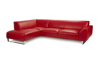 Leather Right Hand Facing Arm Corner Sofa Brooke