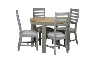 Round Extending Table & 4 Painted Chairs Helmsley