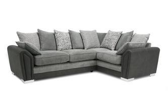 Pillow Back Left Hand Facing 3 Supreme Corner Sofa Bed