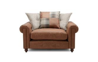 Pillow Back Cuddler Chair