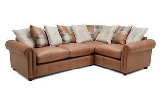 Pillow Back Left Hand Facing 3 Seater Standard Corner Sofa Bed
