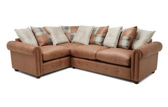 Pillow Back Right Hand Facing 3 Seater Standard Corner Sofa Bed