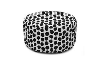 Pattern Round Footstool Dot