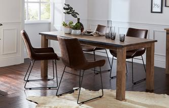 Houston Dining Table & Set of 4 Scoop Chairs Houston