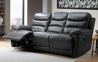 Hudson Leather 3 Seater Manual Recliner Peru