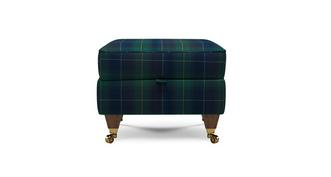 Ilkley Plaid Compact Storage Footstool