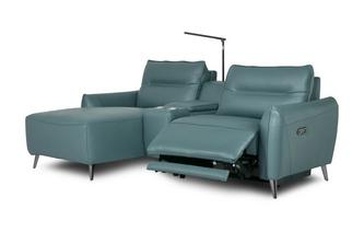 Right Hand Facing 2 Seat Power Chaise and Console