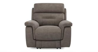 Jacque Fabric Manual Recliner Chair