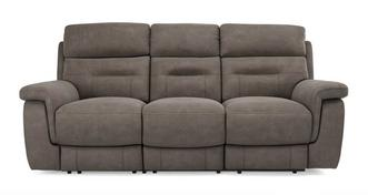 Jacque Fabric 3 Seater Manual Recliner