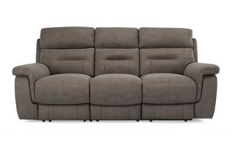 Fabric 3 Seater Power Recliner