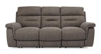 Jacque Fabric 3 Seater Power Plus Recliner
