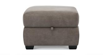 Jacque Fabric Storage Footstool