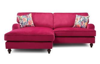 Left Hand Facing 4 Seater Lounger Sofa Sensual Velvet