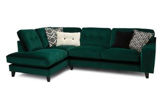 Right Hand Facing 3 Seat Open End Corner Sofa with Charging Unit